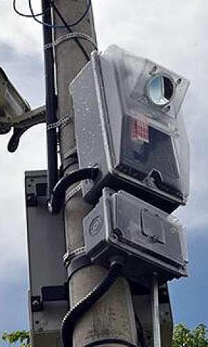 Instalação de câmera de segurança