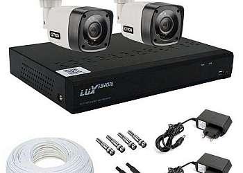 Monitoramento residencial câmera de segurança
